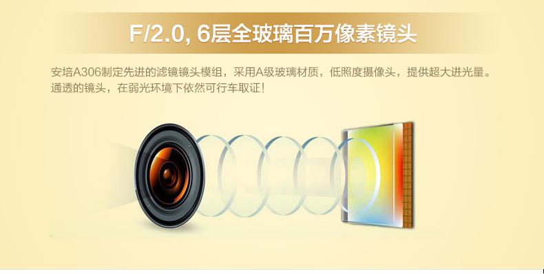安培A306迷你超高清夜视大广角1080P行车记录图片八