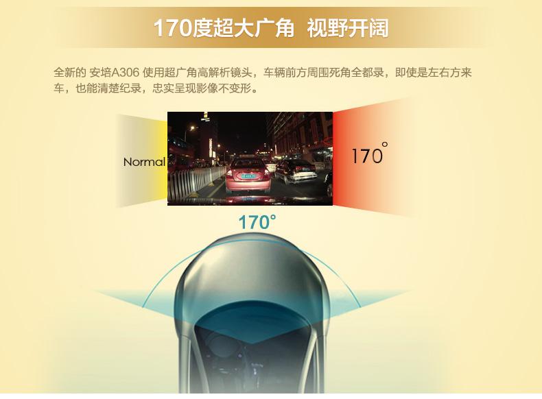 安培A306迷你超高清夜视大广角1080P行车记录图片十一