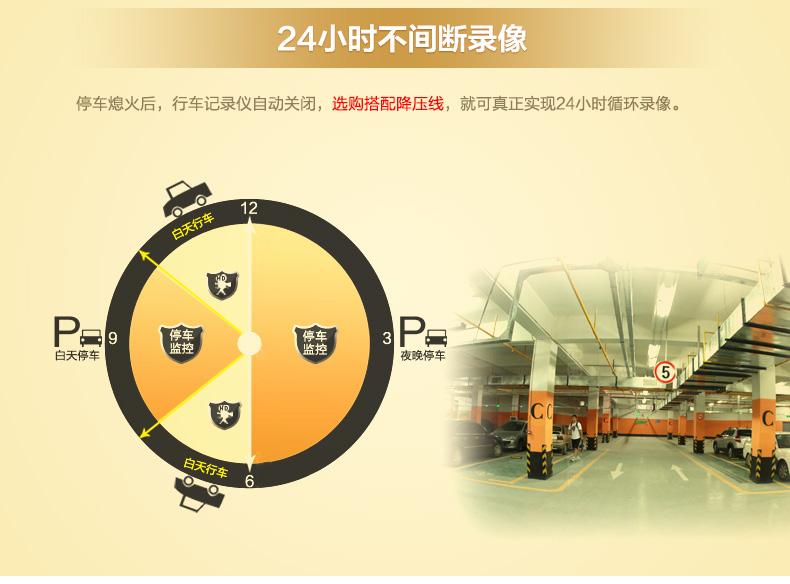 安培A306迷你超高清夜视大广角1080P行车记录图片十四