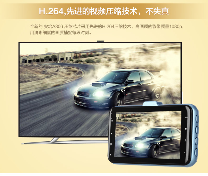 安培A306迷你超高清夜视大广角1080P行车记录图片十二