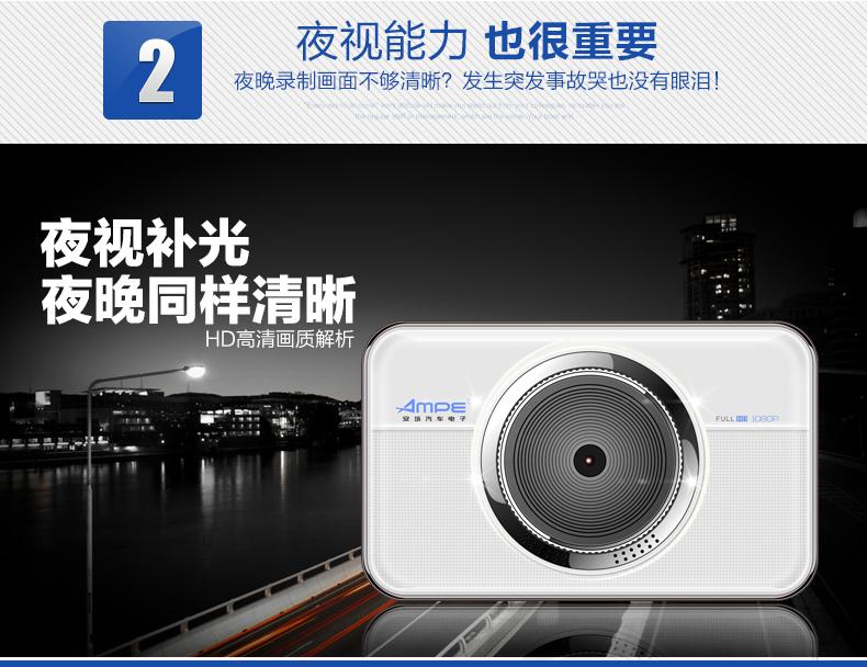 安培A303F行车记录仪车载迷你夜视高清循环录像图片八