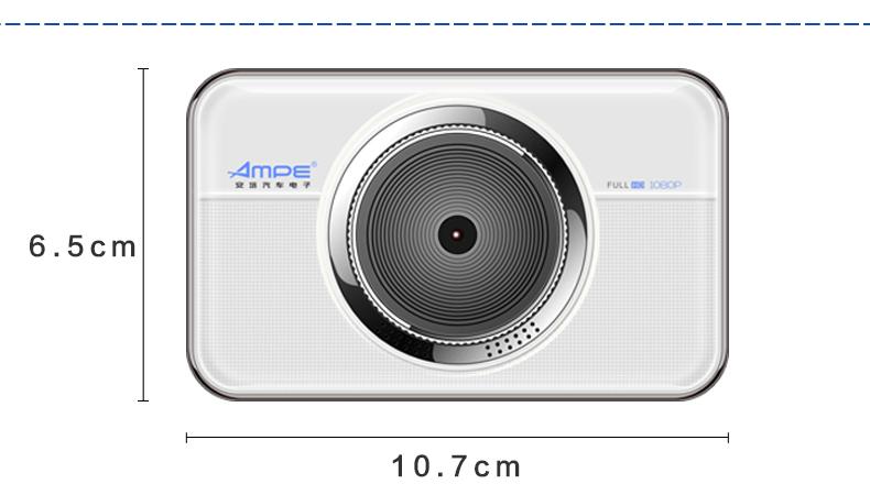 安培A303F行车记录仪车载迷你夜视高清循环录像图片十三