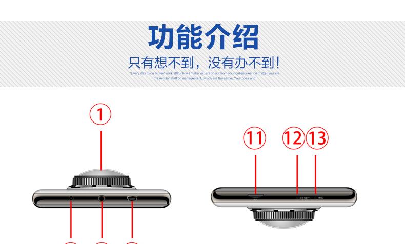 安培A303F行车记录仪车载迷你夜视高清循环录像图片十五
