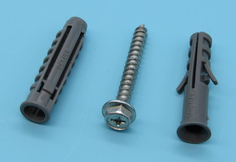 电视挂架膨胀螺丝10MM 尼龙胀管 塑料膨胀管钉图片三