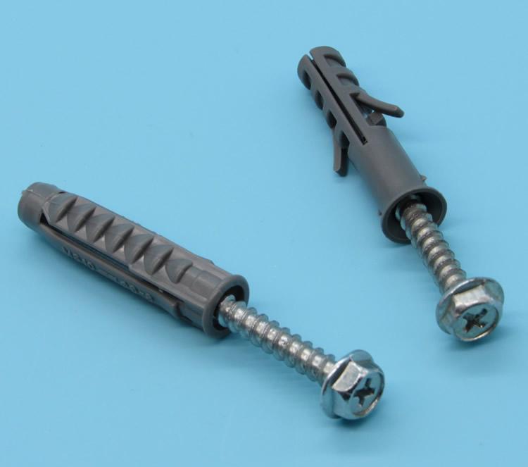 电视挂架膨胀螺丝10MM 尼龙胀管 塑料膨胀管钉图片二