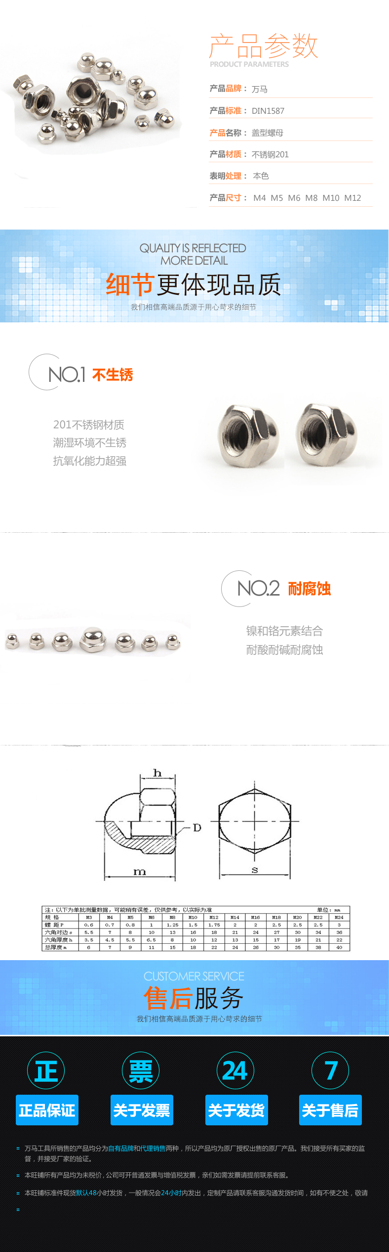 厂家直销 DIN1587盖型螺母 201不锈钢图片一