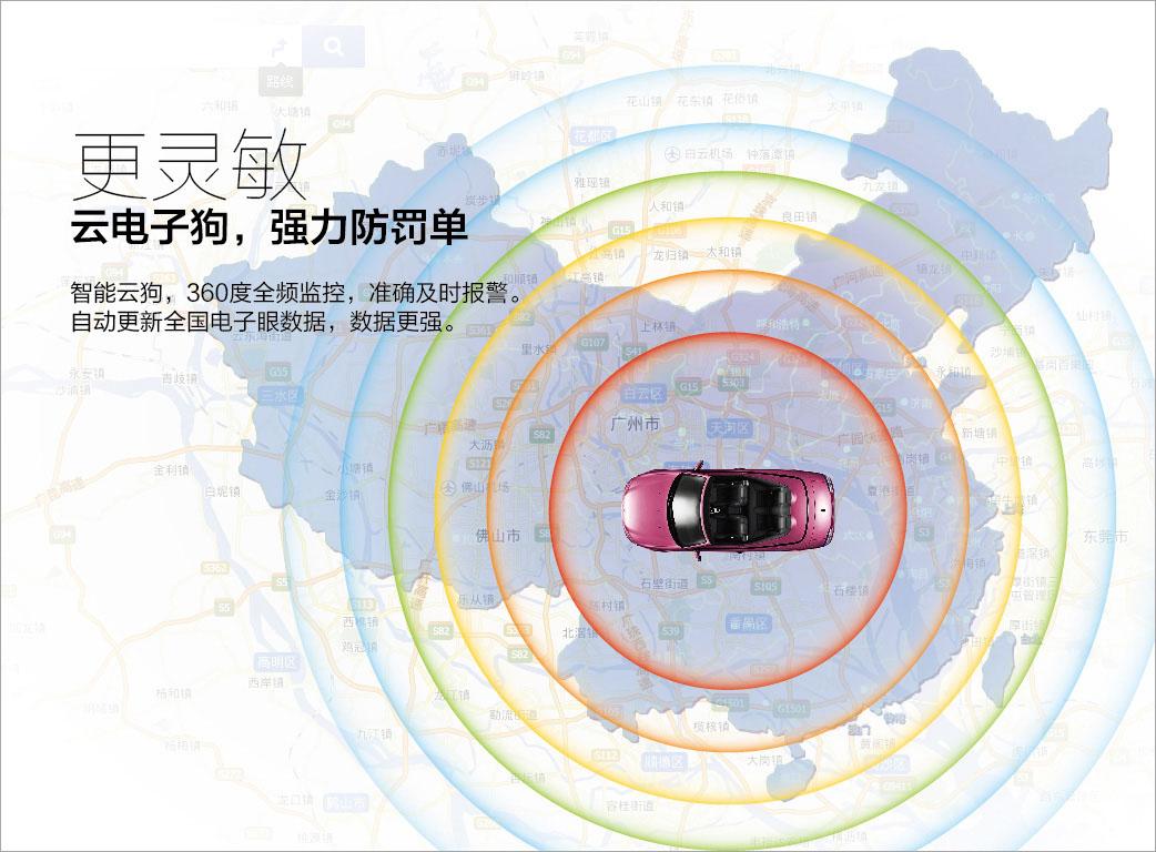 安培魔镜899智能云镜声控导航电子狗记录仪一体机图片十四