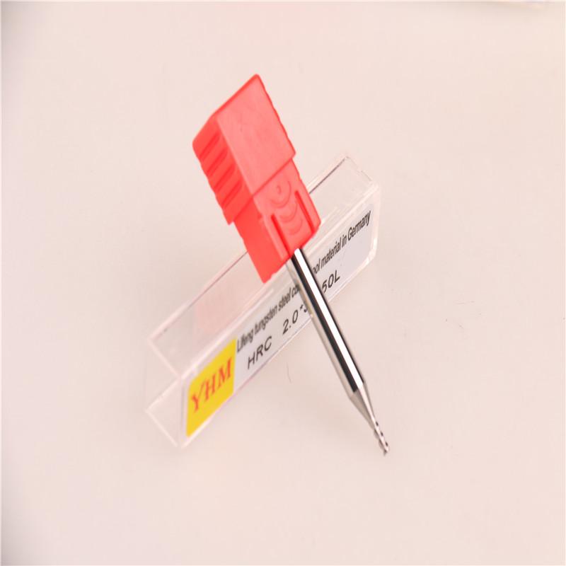 台湾正品YHM铝用钨钢刀铣刀 2.0*3F*50L图片二
