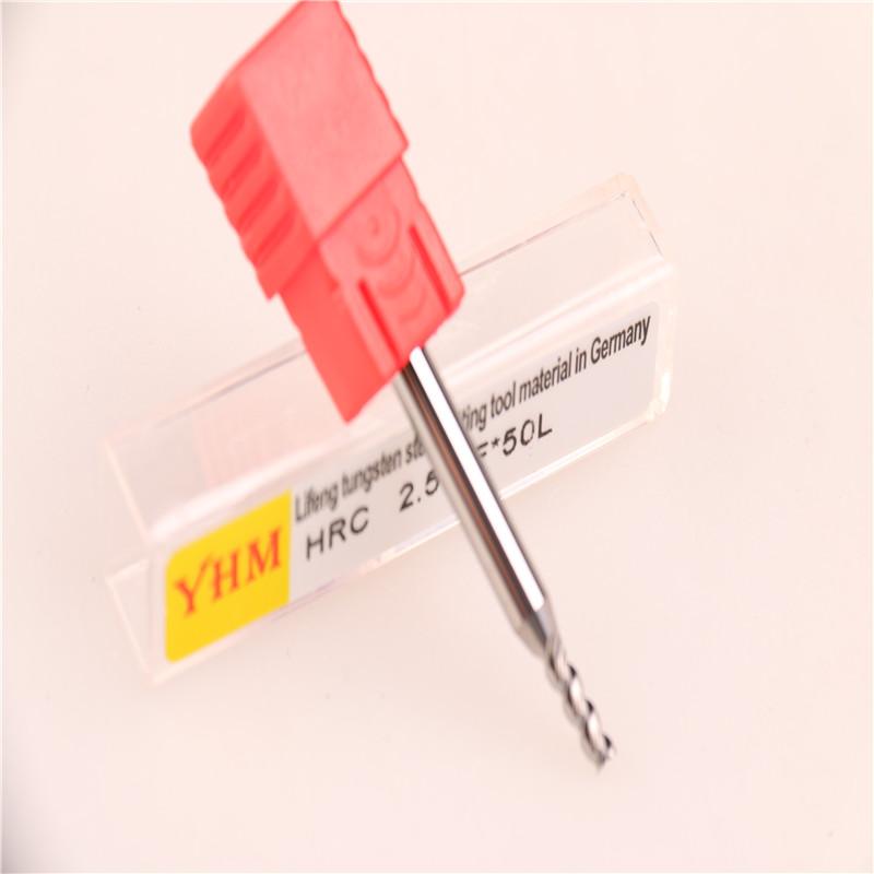 台湾正品YHM铝用钨钢刀铣刀 2.5*3F*50L图片二