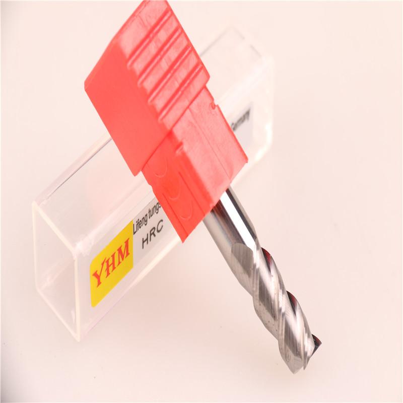 台湾正品YHM铝用钨钢刀铣刀 8.0*3F*50L图片二