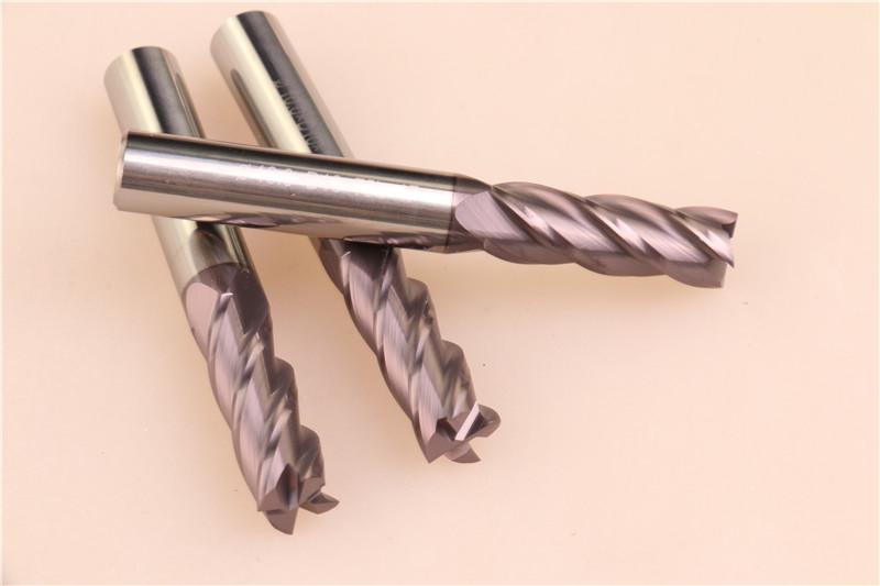YHM 55度钨钢铣刀10*4F*75L图片二