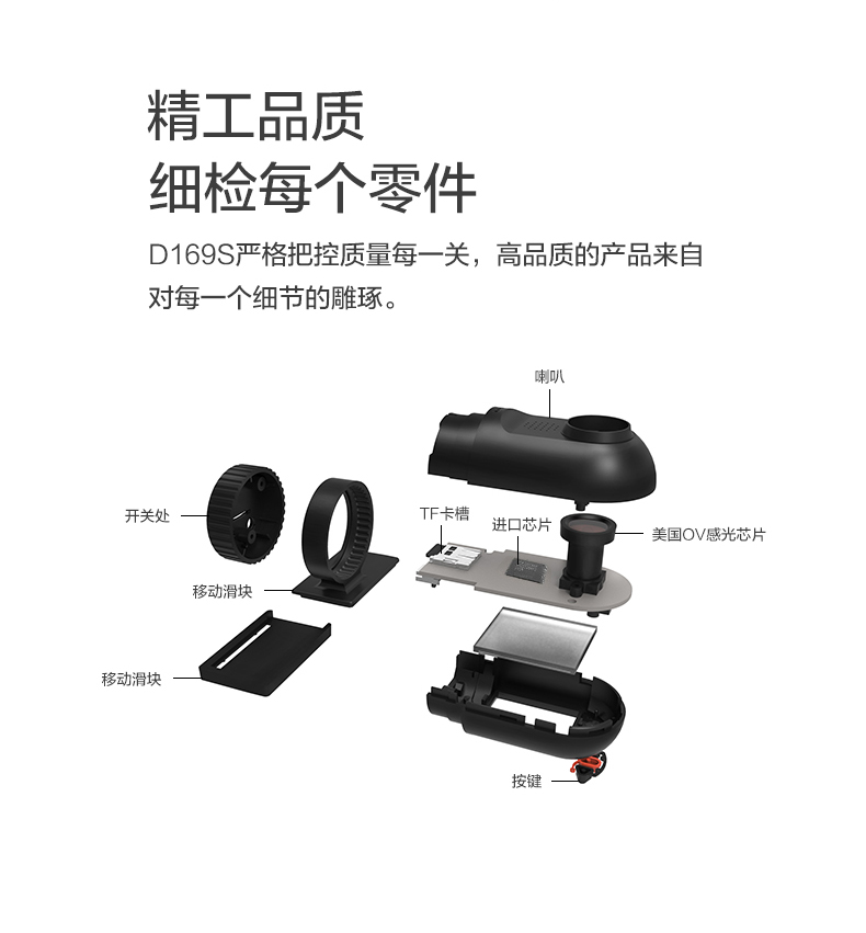 捷渡D169S汽车车载行车记录仪1080P高清夜视图片十七