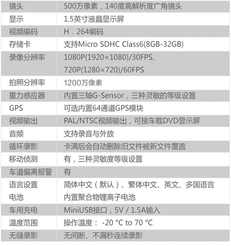 捷渡D169S汽车车载行车记录仪1080P高清夜视图片二十二