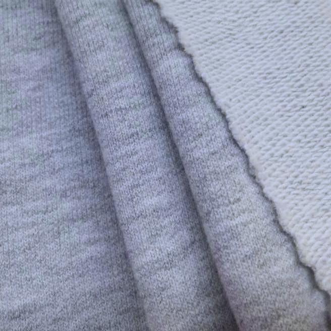 230g大卫衣针织面料 花灰色毛圈布图片一