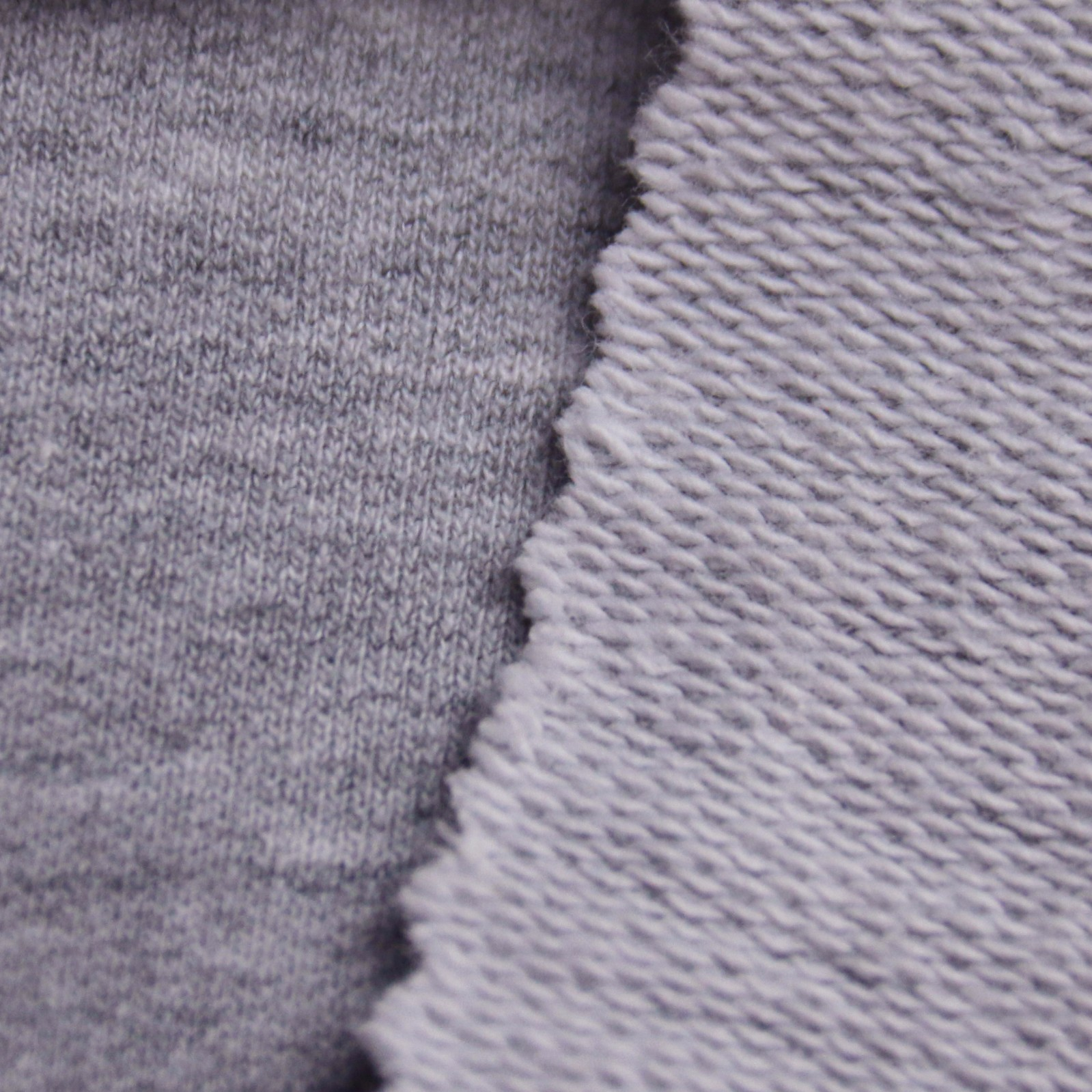 230g大卫衣针织面料 花灰色毛圈布图片二