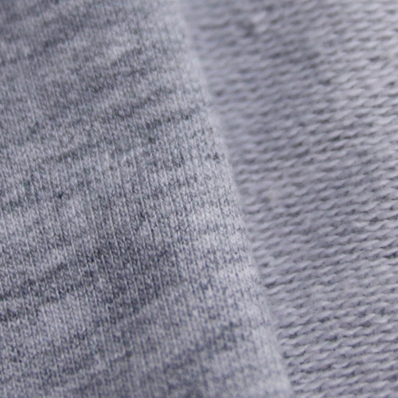 230g大卫衣针织面料 花灰色毛圈布图片三