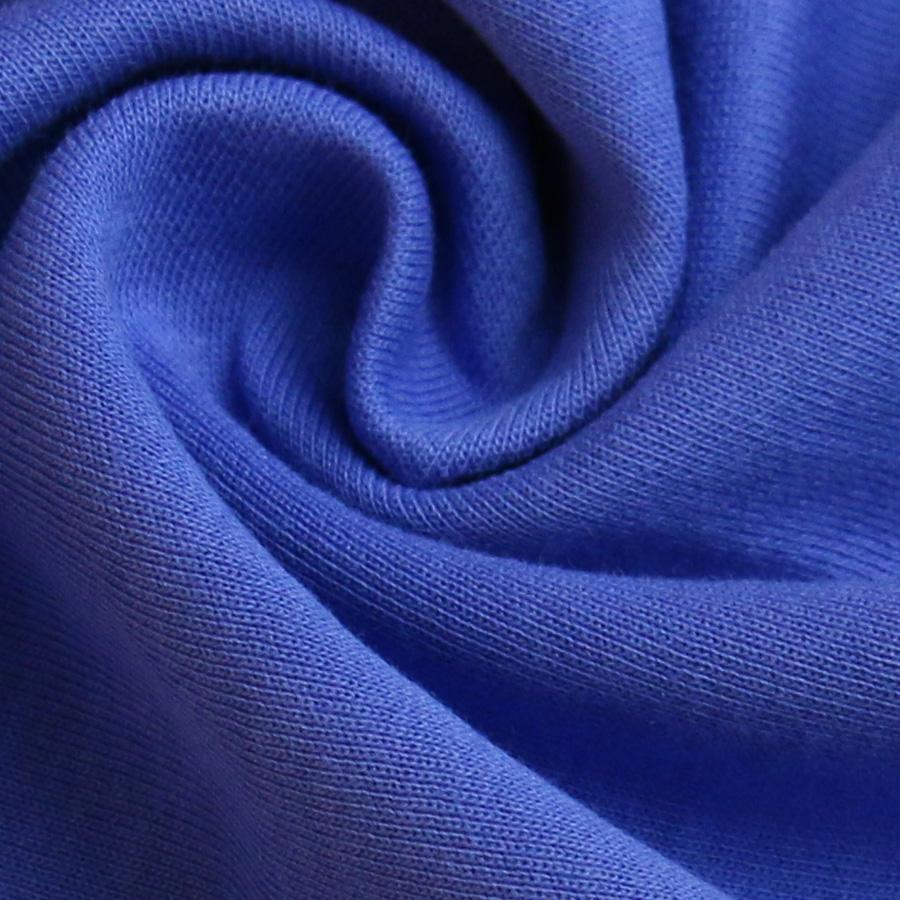 时尚运动型学生校服面料280g健康布 针织面料 深蓝色校服布图片二