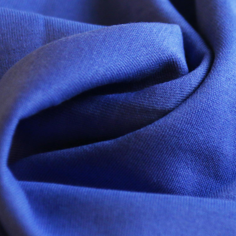 时尚运动型学生校服面料280g健康布 针织面料 深蓝色校服布图片四