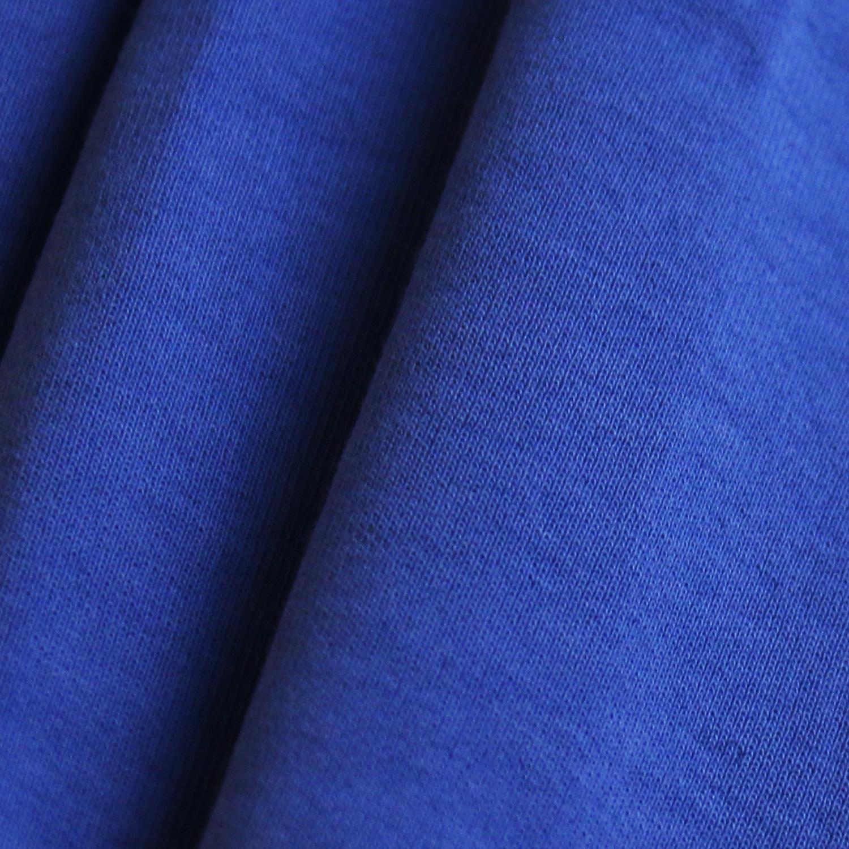 时尚运动型学生校服面料280g健康布 针织面料 深蓝色校服布图片六