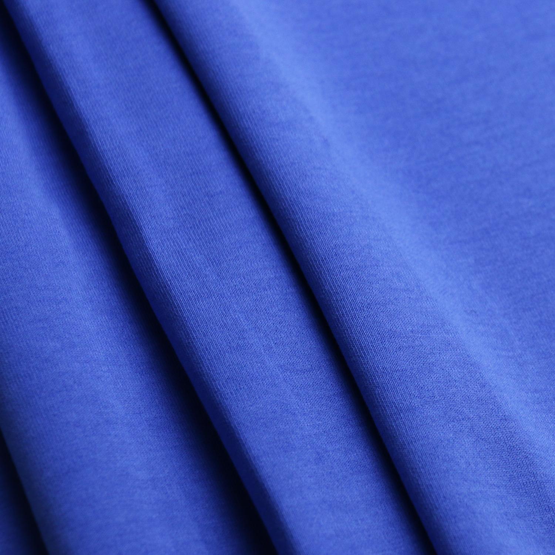 时尚运动型学生校服面料280g健康布 针织面料 深蓝色校服布图片五