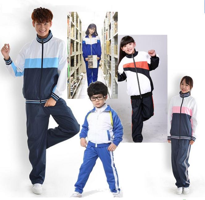 时尚运动学生校服面料280克双面丝盖棉、深宝蓝图片一