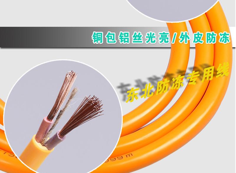 铜包铝RVV 2*2.5平方防冻线 2芯工程专用图片九
