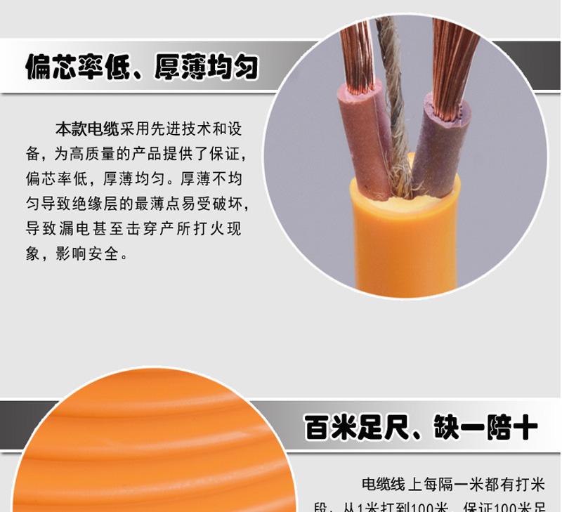 铜包铝RVV 2*2.5平方防冻线 2芯工程专用图片五