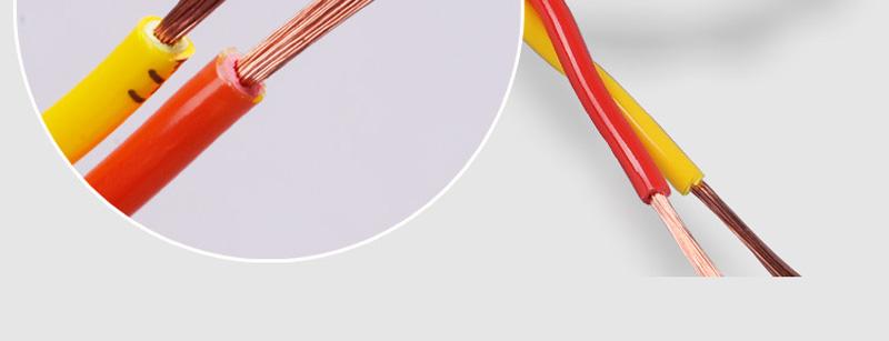 内彩外明RVS 铜包铝2X48丝胶质线 双绞线图片十一
