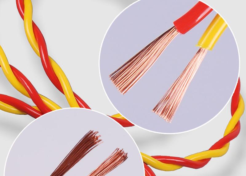 内彩外明RVS 铜包铝2X48丝胶质线 双绞线图片十