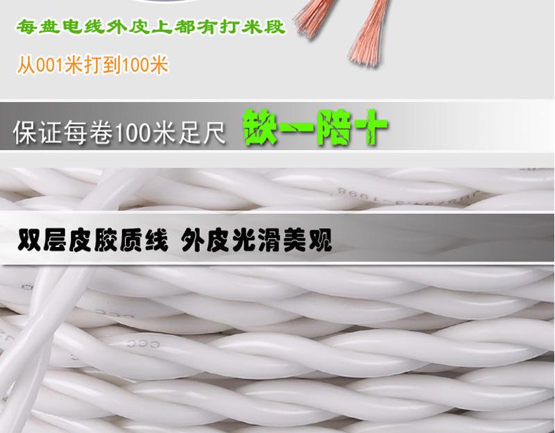 内白外明RVS 铜包铝2X96丝胶质线 双绞线图片三