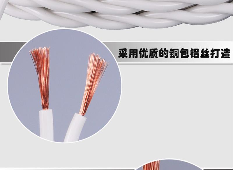 内白外明RVS 铜包铝2X96丝胶质线 双绞线图片四