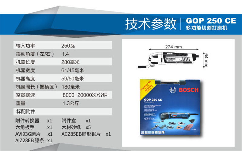GOP250CE多功能切割机打磨机抛光机磨光机图片五