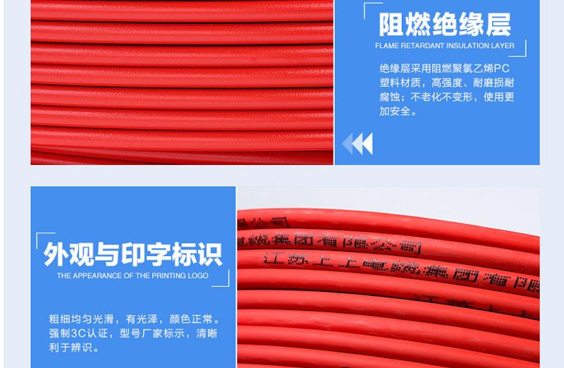 WDZR-BYJR2.5平方家用软电线 低烟无卤图片二