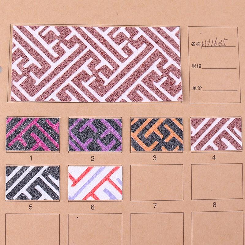 印花PVC花纹几何纹合成革图片三