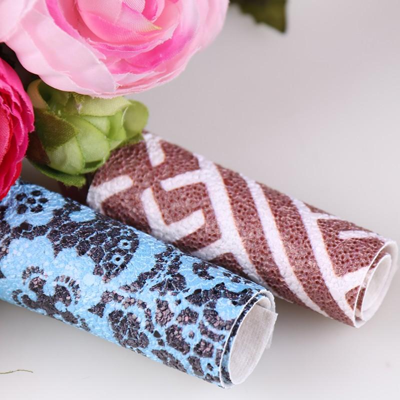 印花PVC花纹几何纹合成革图片五