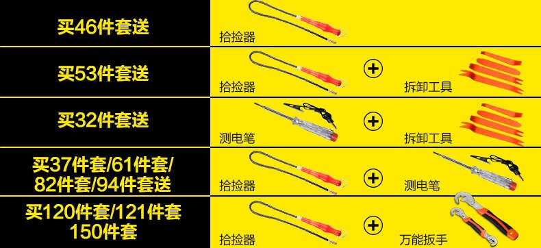 特斯精品工具 37件套机修组套/套筒扳手工具图片六