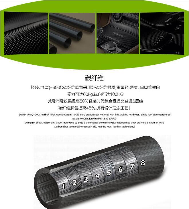 便携碳纤维三脚架单反微单相机碳素三角架云台套装图片三