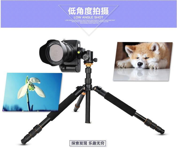 便携碳纤维三脚架单反微单相机碳素三角架云台套装图片五