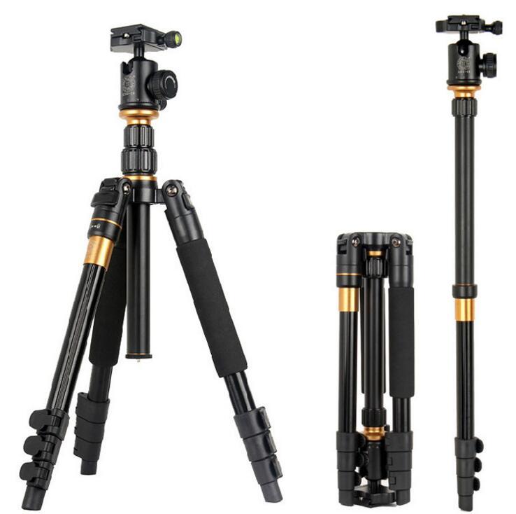 单反相机三脚架 多功能数码摄影便携三角架云台图片二