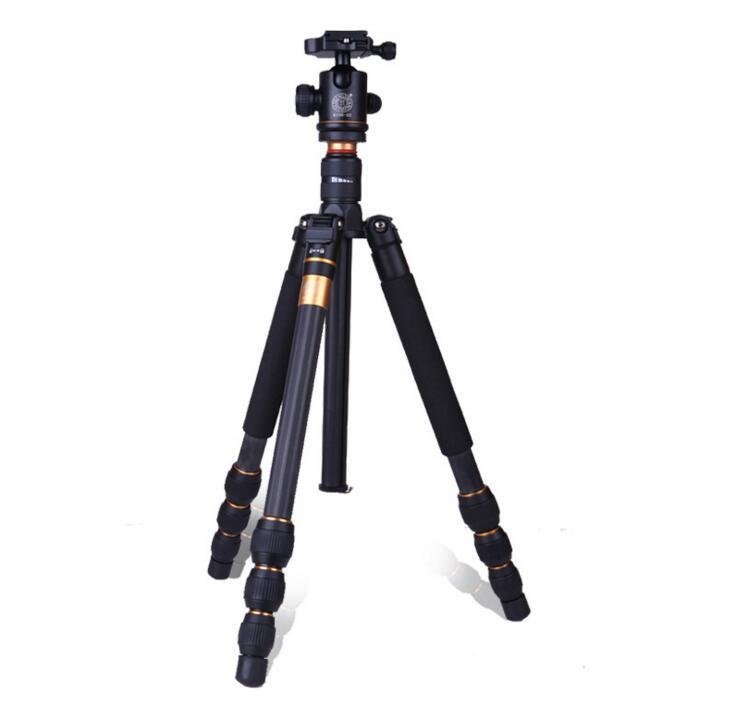 单反相机三角架 便携摄影多功能碳纤维三脚架图片一