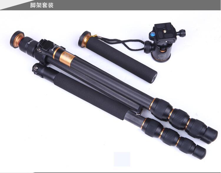 单反相机三角架 便携摄影多功能碳纤维三脚架图片五