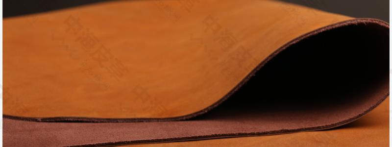 二层牛皮仿头层牛皮疯马油蜡打腊皮复古风格包包鞋面皮图片十三