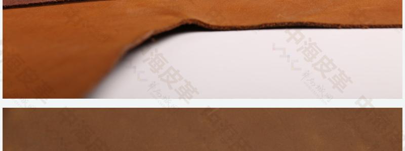 二层牛皮仿头层牛皮疯马油蜡打腊皮复古风格包包鞋面皮图片十四