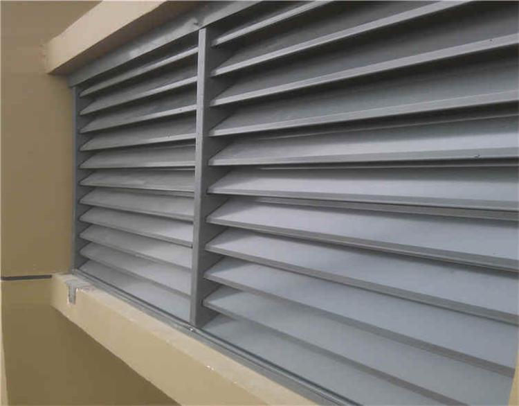 贵州贵阳铝合金百叶窗图片,锌钢百叶窗,空调护栏