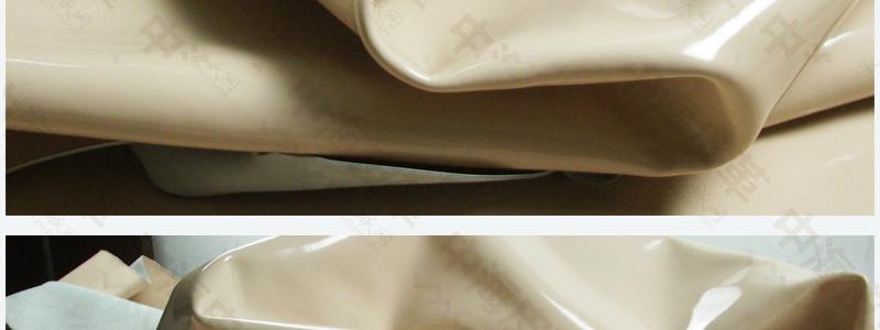 镜面二层牛皮 淋漆二层牛皮 手袋真皮 浅粉红色鞋面图片十四