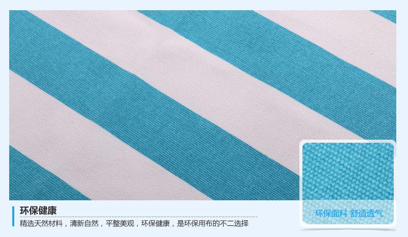 12安全棉印花条纹帆布 全棉面料图片五