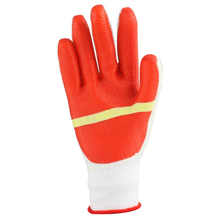 劳保手套 胶皮手套 胶片手套 防护手套 12付/包图片三