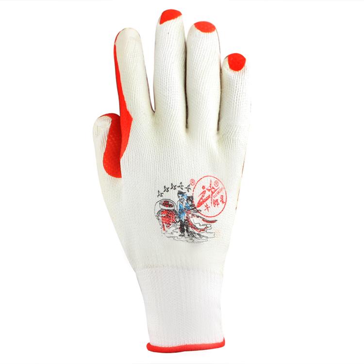 劳保手套 胶皮手套 胶片手套 防护手套 12付/包图片二