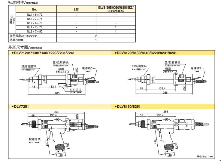 日东delvo电动螺丝刀DLV8130-EJC图片二