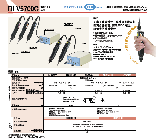 日东delvo电动螺丝刀DLV5740-HC图片一